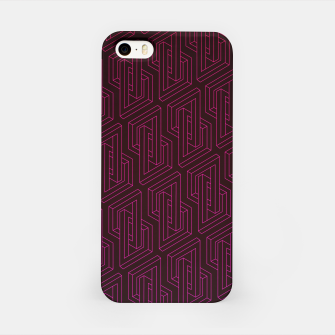 Miniature de image de Geometric Illusion pattern in deep red iPhone Case, Live Heroes
