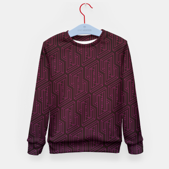 Miniature de image de Geometric Illusion pattern in deep red Kid's Sweater, Live Heroes