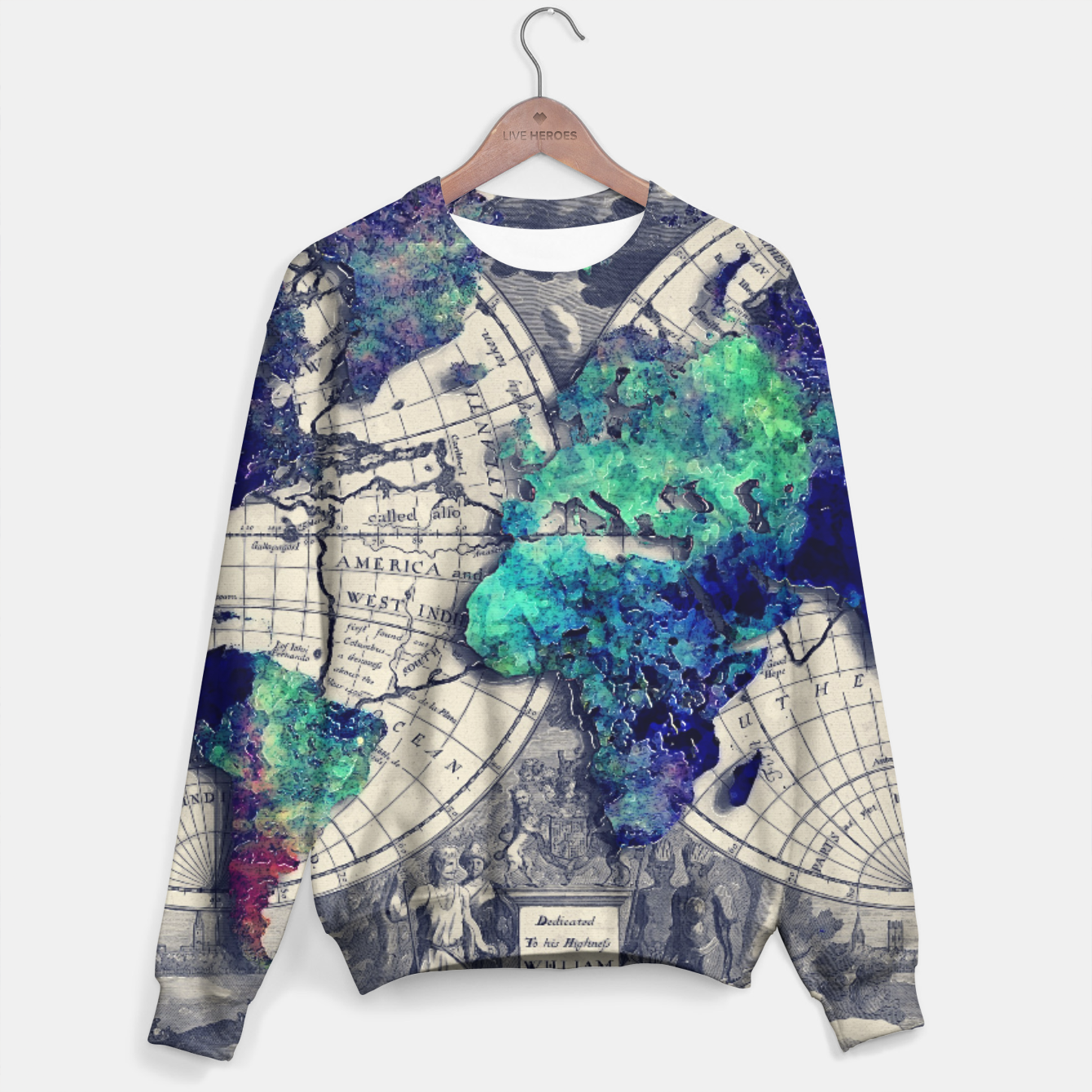 World Map Sweater.World Map Sweater Live Heroes