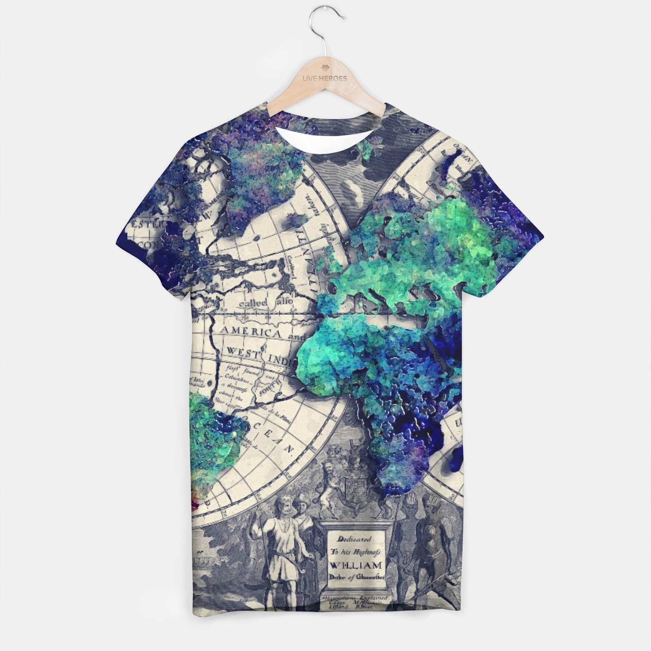 world map tshirt
