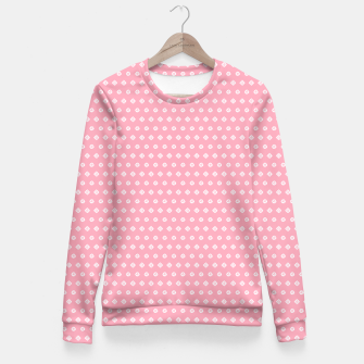 Thumbnail image of Childish pink pattern with cute geometric elements Fitted Waist Sweater, Live Heroes