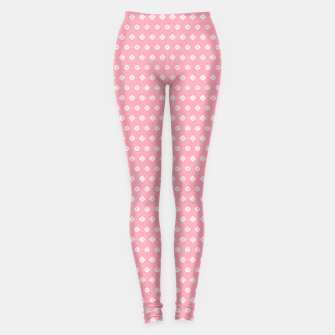 Thumbnail image of Childish pink pattern with cute geometric elements Leggings, Live Heroes