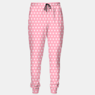 Thumbnail image of Childish pink pattern with cute geometric elements Sweatpants, Live Heroes