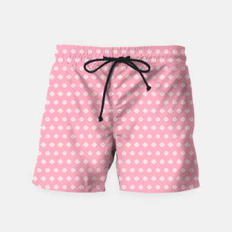 Thumbnail image of Childish pink pattern with cute geometric elements Swim Shorts, Live Heroes