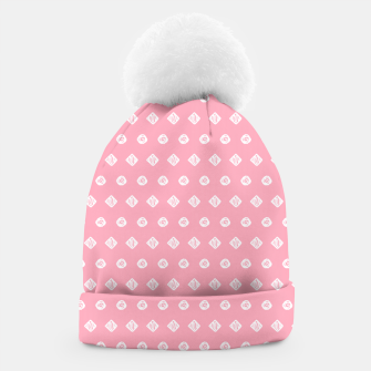 Thumbnail image of Childish pink pattern with cute geometric elements Beanie, Live Heroes