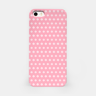 Thumbnail image of Childish pink pattern with cute geometric elements iPhone Case, Live Heroes