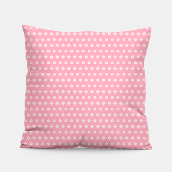 Thumbnail image of Childish pink pattern with cute geometric elements Pillow, Live Heroes