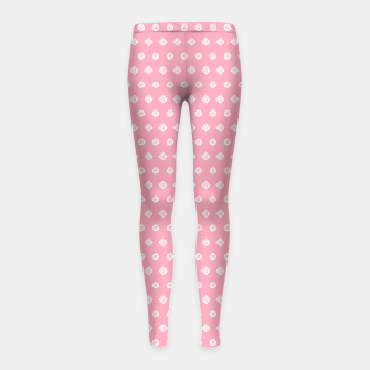 Thumbnail image of Childish pink pattern with cute geometric elements Girl's Leggings, Live Heroes
