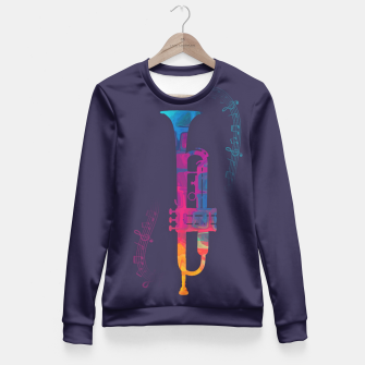Thumbnail image of Trumpet Color Fitted Waist Sweater, Live Heroes