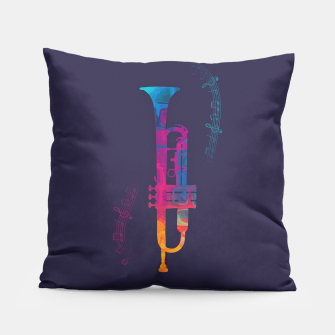 Thumbnail image of Trumpet Color Pillow, Live Heroes