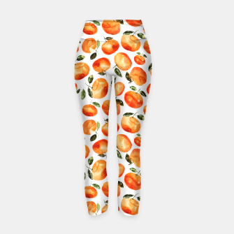 Thumbnail image of watercolor tangerines Yoga Pants, Live Heroes