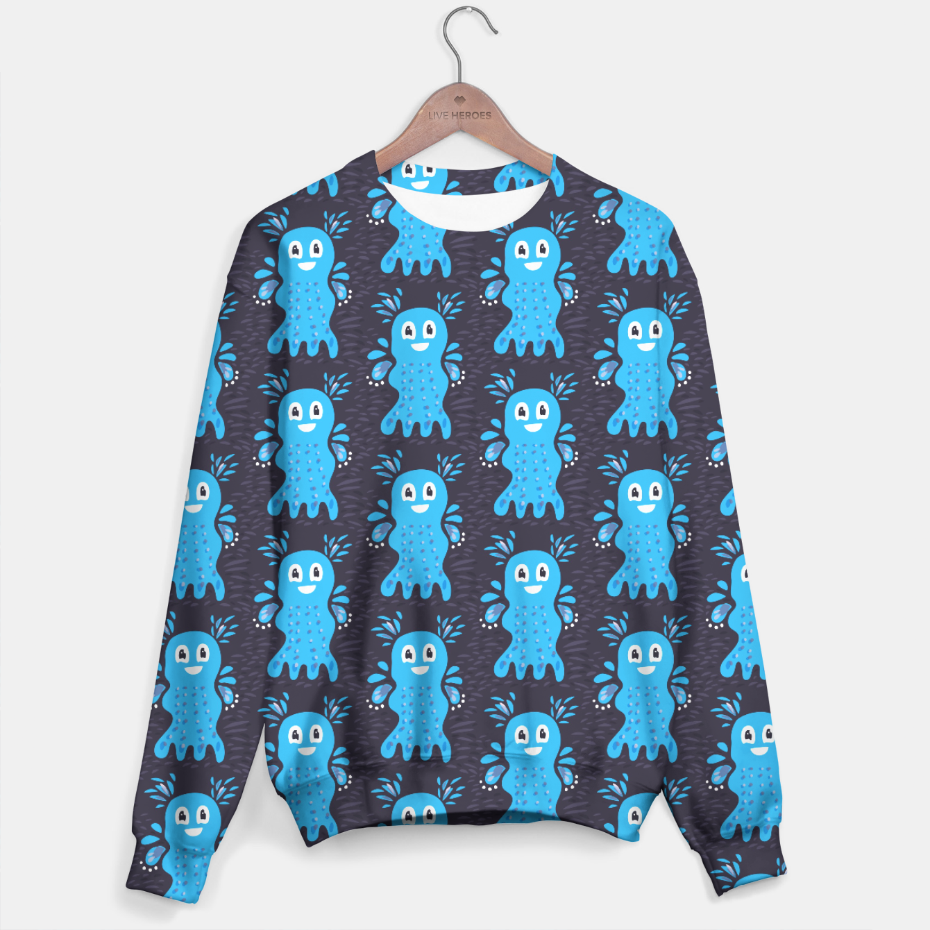 Image of Cute Happy Sea Creature Sweater - Live Heroes