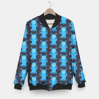 Cute Happy Sea Creature Baseball Jacket thumbnail image