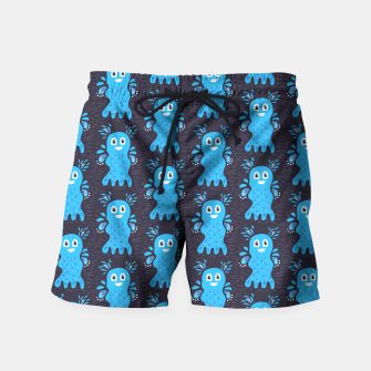 Cute Happy Sea Creature Swim Shorts thumbnail image