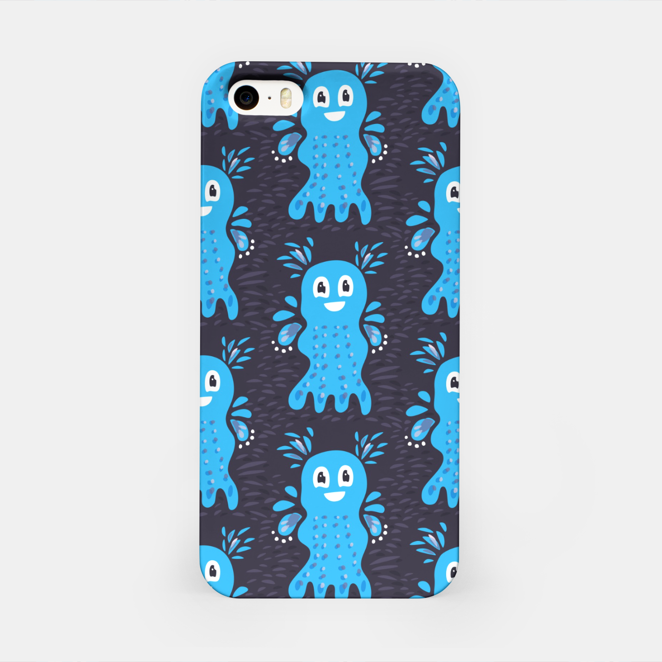 Image of Cute Happy Sea Creature iPhone Case - Live Heroes