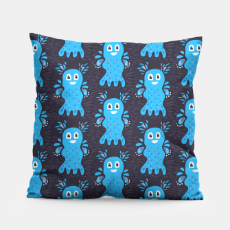 Cute Happy Sea Creature Pillow thumbnail image