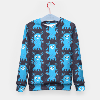 Cute Happy Sea Creature Kid's Sweater thumbnail image