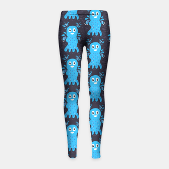 Cute Happy Sea Creature Girl's Leggings thumbnail image