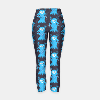 Cute Happy Sea Creature Yoga Pants thumbnail image