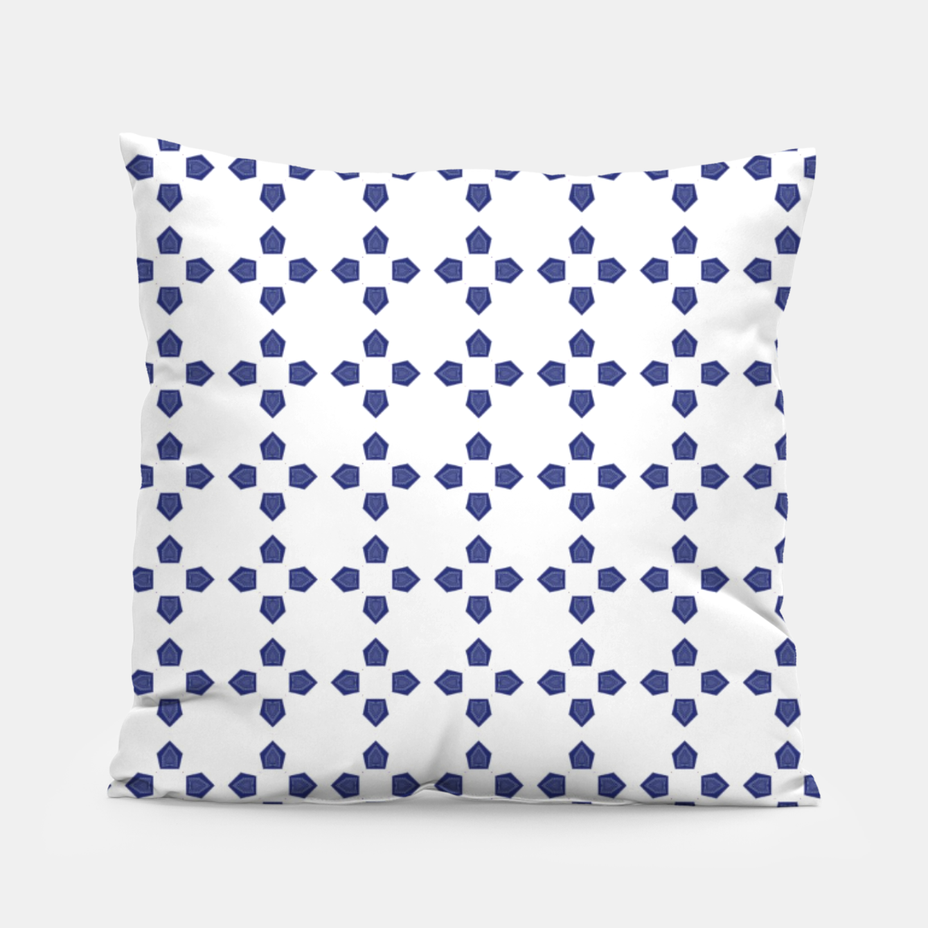 Image of Blue pattern Pillow - Live Heroes