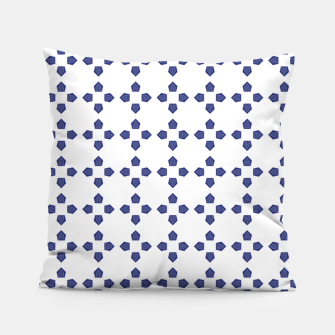 Thumbnail image of Blue pattern Pillow, Live Heroes