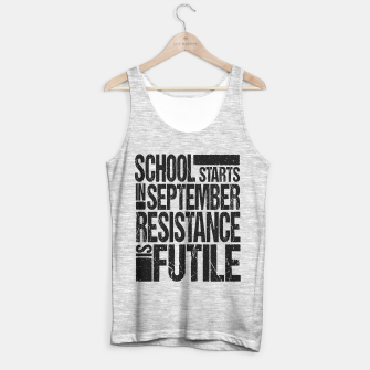 Miniature de image de school in september Tank Top regular, Live Heroes