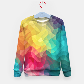 Miniature de image de Abstract Color Wave Flash Kid's Sweater, Live Heroes