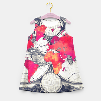 Thumbnail image of world map Girl's Summer Dress, Live Heroes