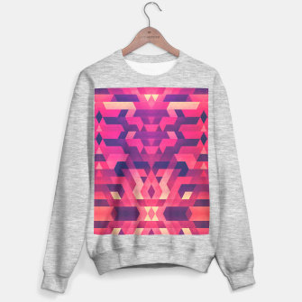 Miniature de image de Abstract Symertric geometric triangle texture pattern design in diabolic magnet future red Sweater regular, Live Heroes