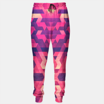 Miniature de image de Abstract Symertric geometric triangle texture pattern design in diabolic magnet future red Sweatpants, Live Heroes