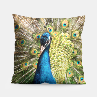 Thumbnail image of Peacock Pillow, Live Heroes