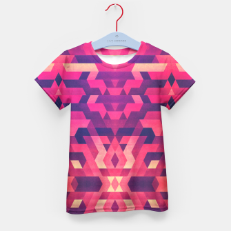 Miniature de image de Abstract Symertric geometric triangle texture pattern design in diabolic magnet future red Kid's T-shirt, Live Heroes