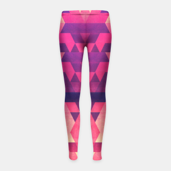 Imagen en miniatura de Abstract Symertric geometric triangle texture pattern design in diabolic magnet future red Girl's Leggings, Live Heroes