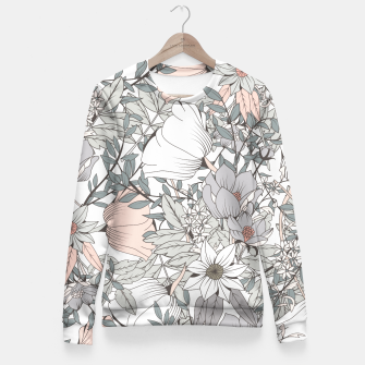 Miniature de image de Botanical pattern 006 Fitted Waist Sweater, Live Heroes