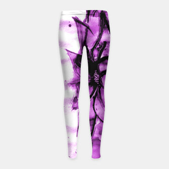 Thumbnail image of Currently un-Titlet Girl's Leggings, Live Heroes