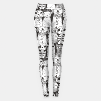 Halloween monsters Leggings obraz miniatury
