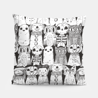 Halloween monsters Pillow obraz miniatury