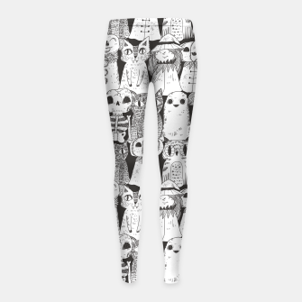 Halloween monsters Girl's Leggings obraz miniatury