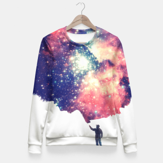 Painting the universe Awsome Space Art Design Fitted Waist Sweater thumbnail image