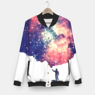 Painting the universe Awsome Space Art Design Baseball Jacket thumbnail image