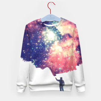 Painting the universe Awsome Space Art Design Kid's Sweater thumbnail image