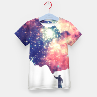 Painting the universe Awsome Space Art Design Kid's T-shirt thumbnail image