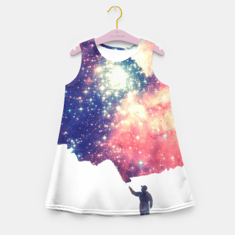 Painting the universe Awsome Space Art Design Girl's Summer Dress thumbnail image