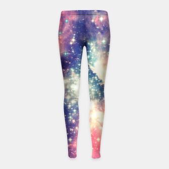 Painting the universe Awsome Space Art Design Girl's Leggings thumbnail image