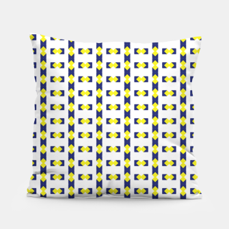 Thumbnail image of Gold and Blue pillow Pillow, Live Heroes