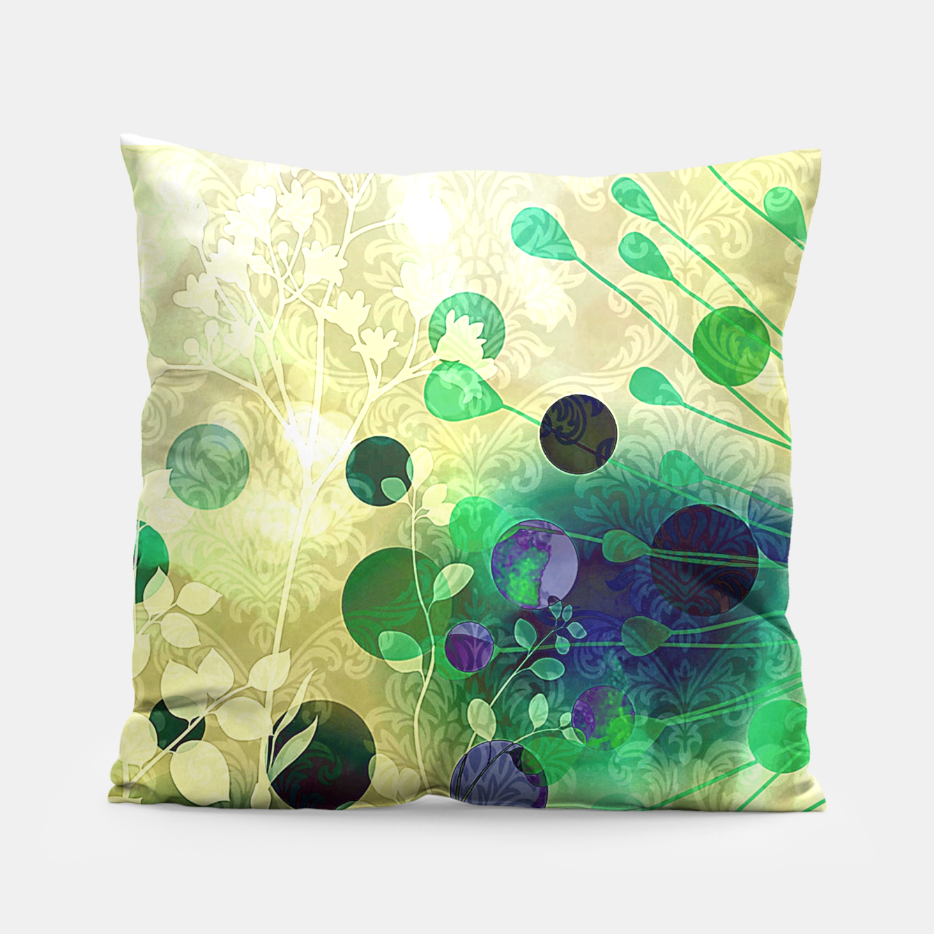 Foto Efflorescence silver Coussin - Live Heroes