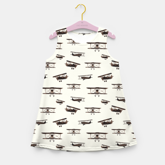 Thumbnail image of Retro airplanes Girl's Summer Dress, Live Heroes