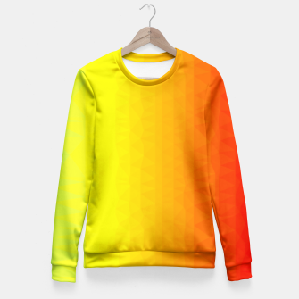 Thumbnail image of Polygon mesh art Fitted Waist Sweater, Live Heroes