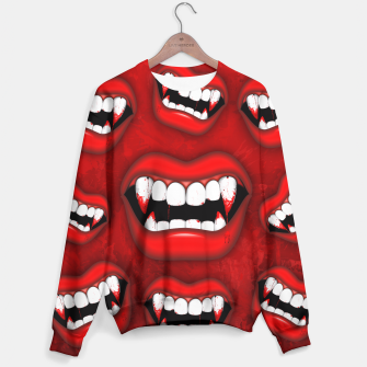 Thumbnail image of Vampire Red Bloody Mouth Sweater, Live Heroes