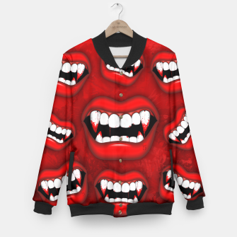 Thumbnail image of Vampire Red Bloody Mouth Baseball Jacket, Live Heroes